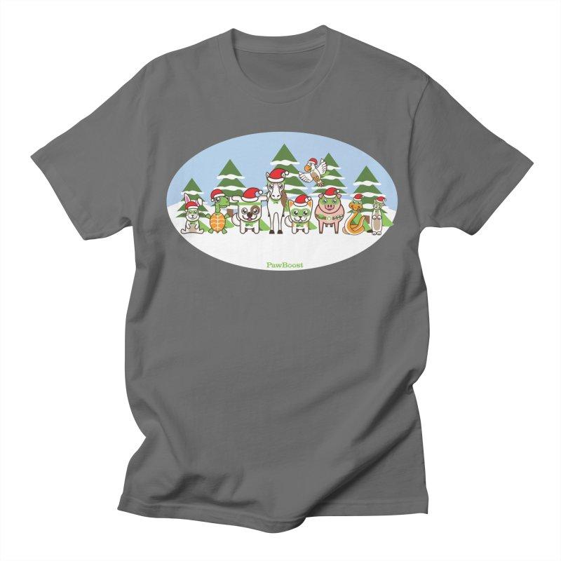 Rescue Squad (winter wonderland) Men's T-Shirt by PawBoost's Shop