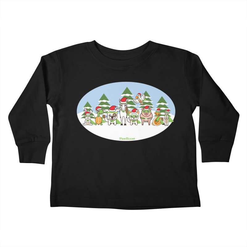 Rescue Squad (winter wonderland) Kids Toddler Longsleeve T-Shirt by PawBoost's Shop