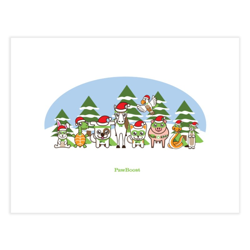 Rescue Squad (winter wonderland) Home Fine Art Print by PawBoost's Shop