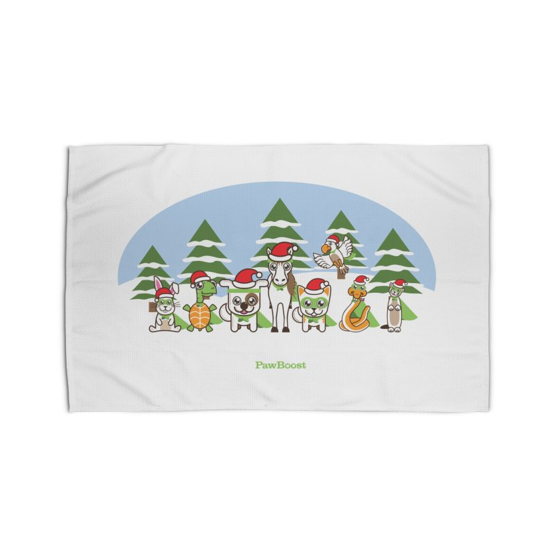 Rescue Squad (winter wonderland) Home Rug by PawBoost's Shop