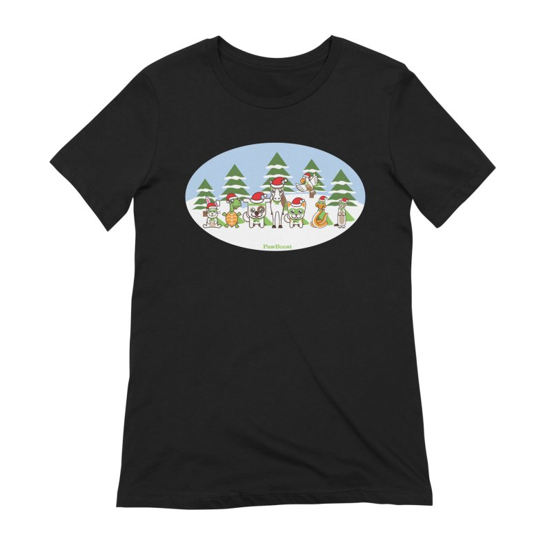 Rescue Squad (winter wonderland) Women's Extra Soft T-Shirt by PawBoost's Shop