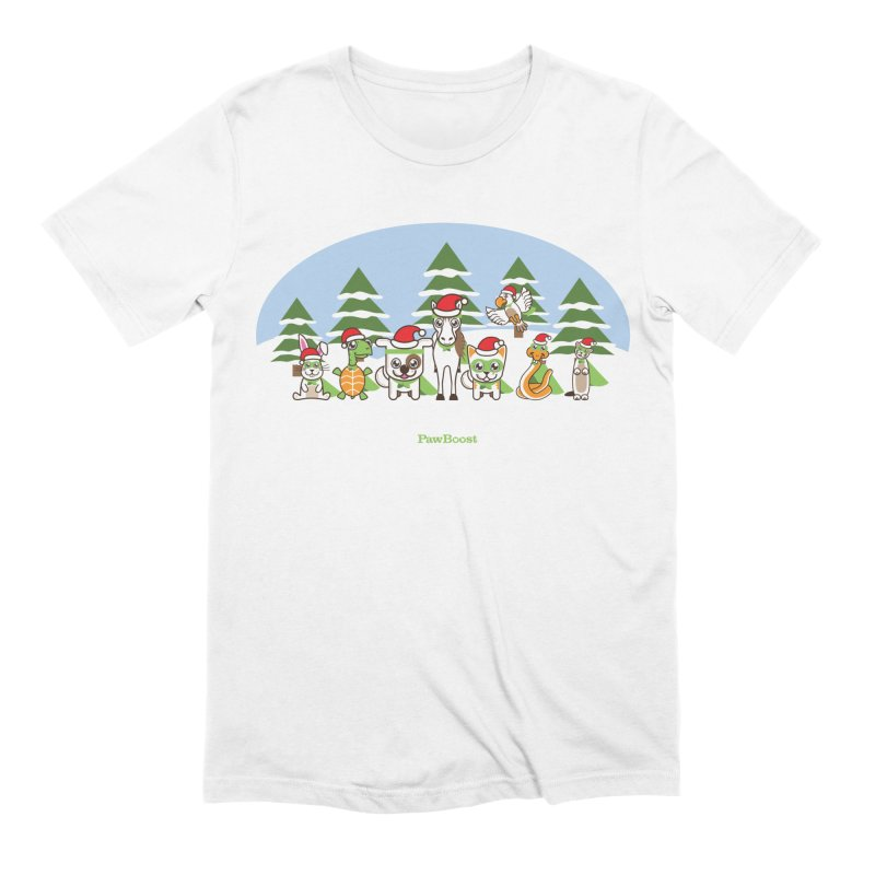 Rescue Squad (winter wonderland) Men's Extra Soft T-Shirt by PawBoost's Shop