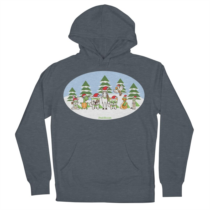 Rescue Squad (winter wonderland) in Women's French Terry Pullover Hoody Heather Navy Denim by PawBoost's Shop