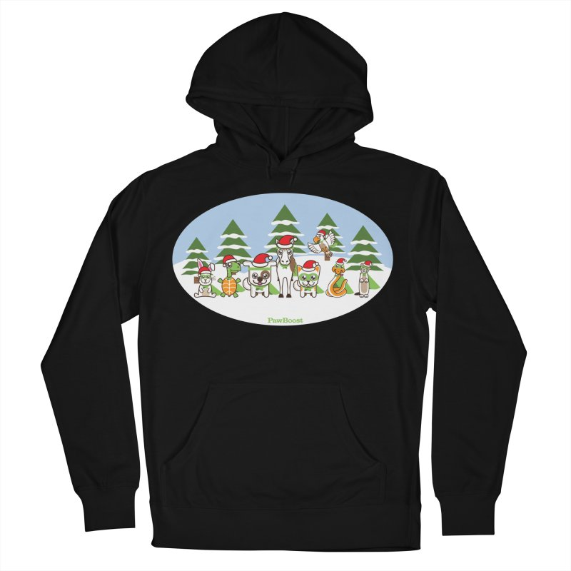 Rescue Squad (winter wonderland) Women's French Terry Pullover Hoody by PawBoost's Shop