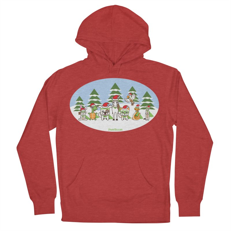 Rescue Squad (winter wonderland) Men's Pullover Hoody by PawBoost's Shop