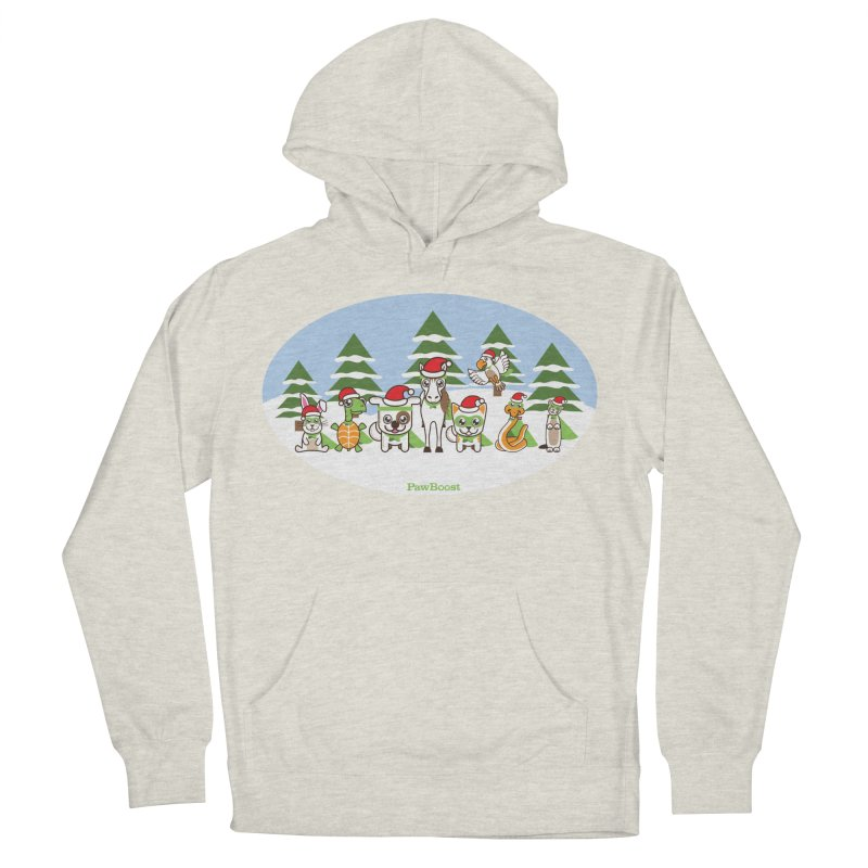 Rescue Squad (winter wonderland) Men's French Terry Pullover Hoody by PawBoost's Shop