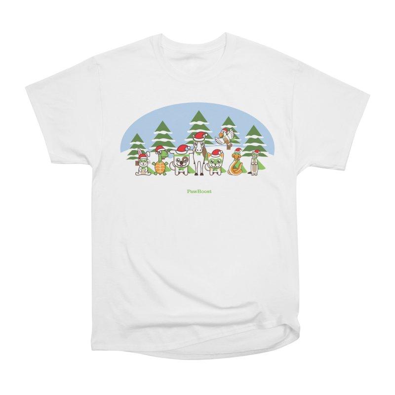 Rescue Squad (winter wonderland) Men's Heavyweight T-Shirt by PawBoost's Shop