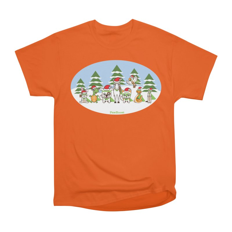 Rescue Squad (winter wonderland) Men's Heavyweight T-Shirt by PawBoost's Shop