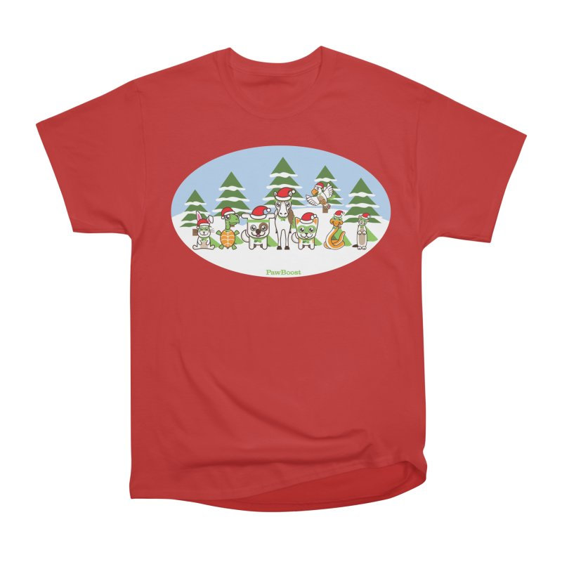 Rescue Squad (winter wonderland) Women's Heavyweight Unisex T-Shirt by PawBoost's Shop