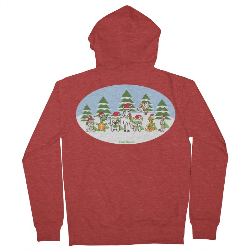 Rescue Squad (winter wonderland) Women's French Terry Zip-Up Hoody by PawBoost's Shop