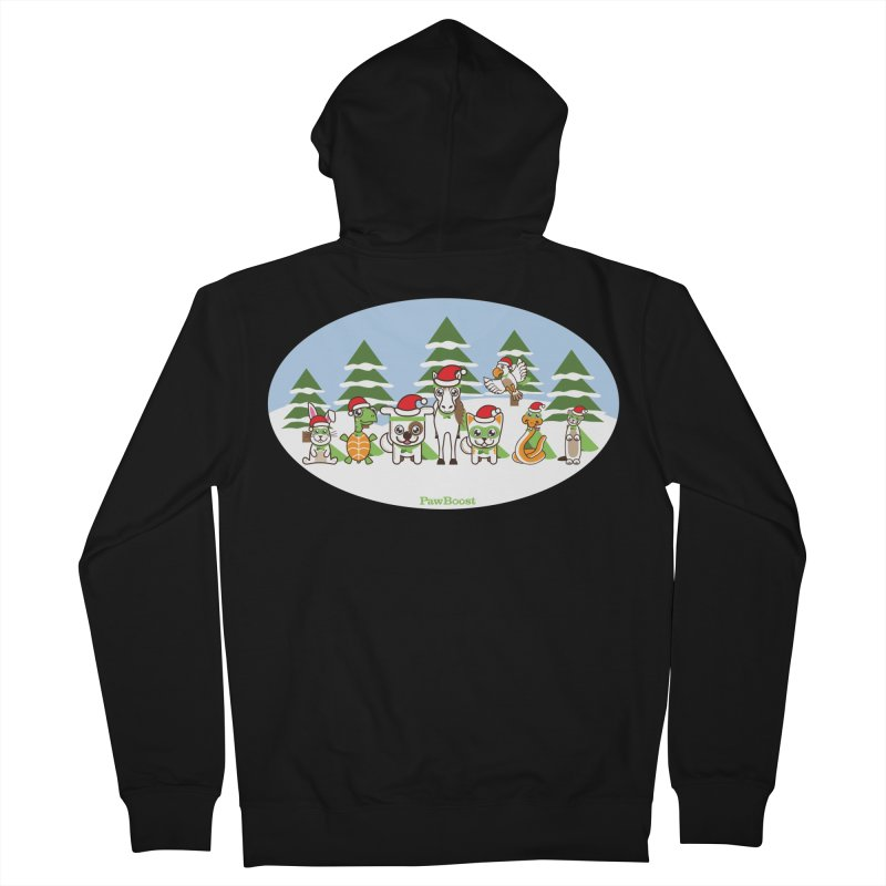 Rescue Squad (winter wonderland) Women's Zip-Up Hoody by PawBoost's Shop