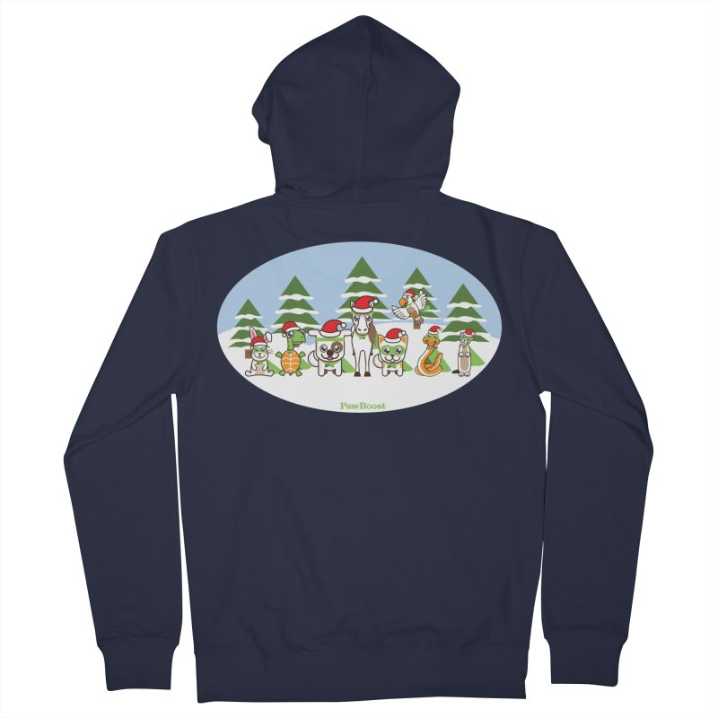 Rescue Squad (winter wonderland) Men's French Terry Zip-Up Hoody by PawBoost's Shop