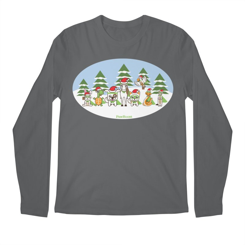 Rescue Squad (winter wonderland) Men's Longsleeve T-Shirt by PawBoost's Shop