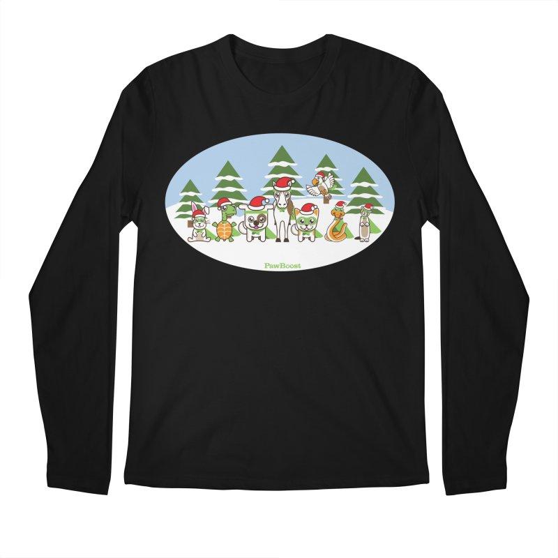 Rescue Squad (winter wonderland) Men's Regular Longsleeve T-Shirt by PawBoost's Shop
