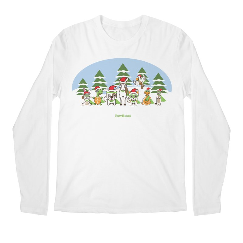 Rescue Squad (winter wonderland) Men's Regular Longsleeve T-Shirt by PawBoost's Shop
