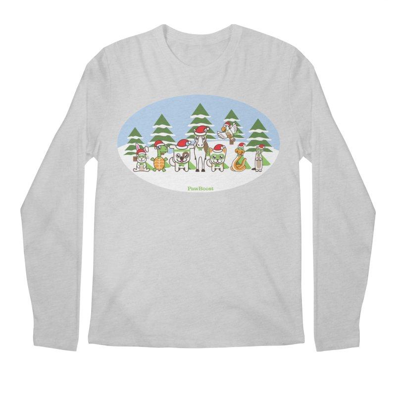 Rescue Squad (winter wonderland) Men's Longsleeve T-Shirt by PawBoost's Shop
