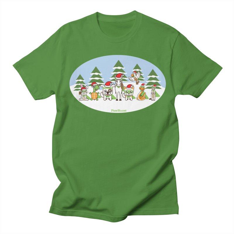 Rescue Squad (winter wonderland) Men's Regular T-Shirt by PawBoost's Shop