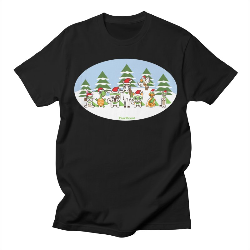 Rescue Squad (winter wonderland) Men's Regular T-Shirt by PawBoost's Shop