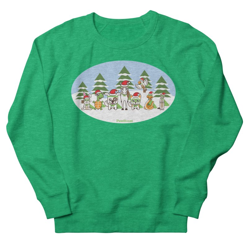 Rescue Squad (winter wonderland) in Women's French Terry Sweatshirt Heather Kelly by PawBoost's Shop