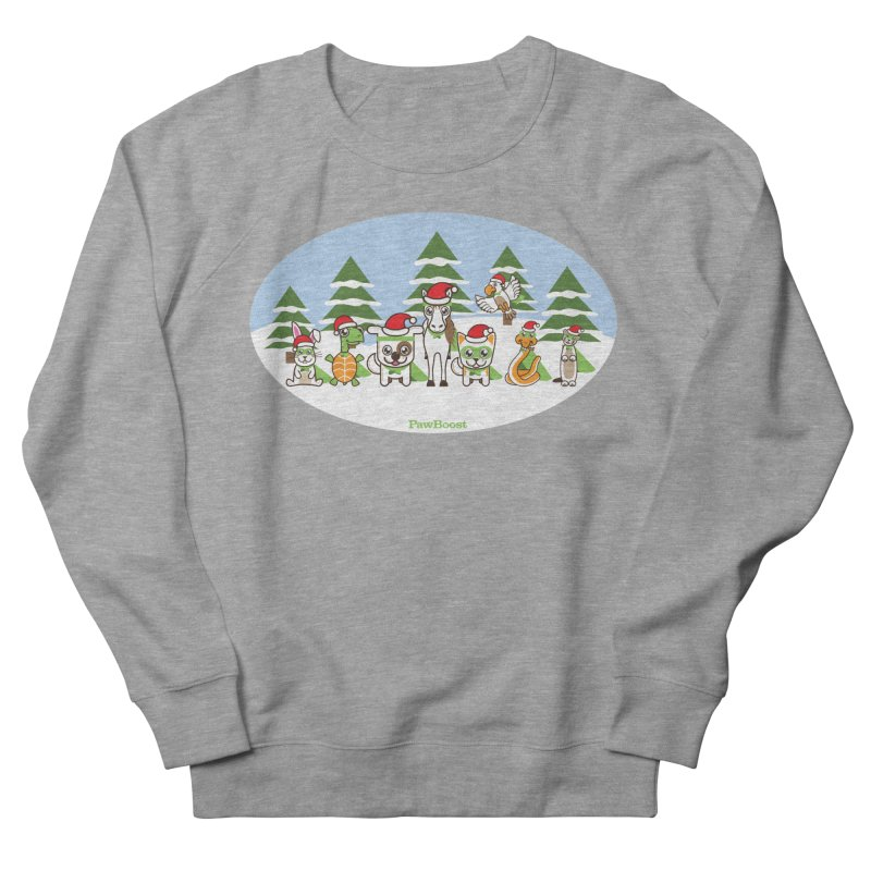Rescue Squad (winter wonderland) Men's French Terry Sweatshirt by PawBoost's Shop