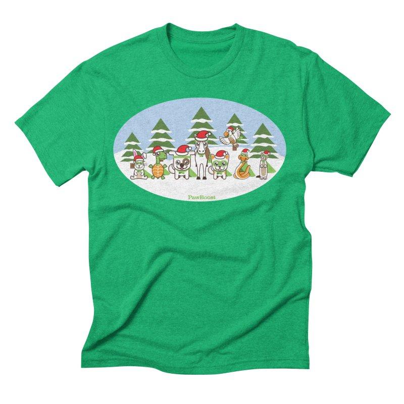 Rescue Squad (winter wonderland) Men's Triblend T-Shirt by PawBoost's Shop