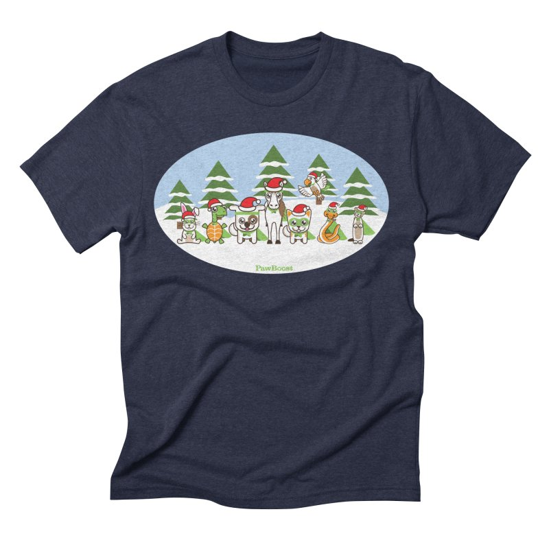 Rescue Squad (winter wonderland) Men's Triblend T-Shirt by PawBoost's Shop
