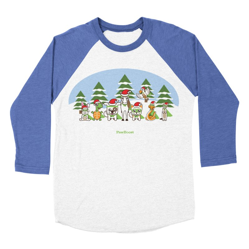 Rescue Squad (winter wonderland) Women's Baseball Triblend Longsleeve T-Shirt by PawBoost's Shop