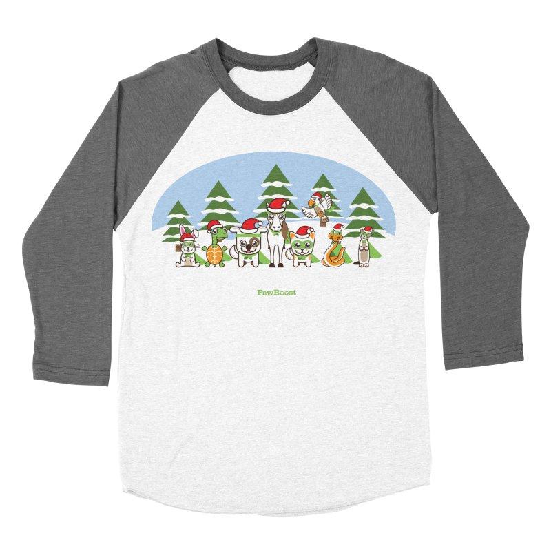 Rescue Squad (winter wonderland) Women's Baseball Triblend T-Shirt by PawBoost's Shop