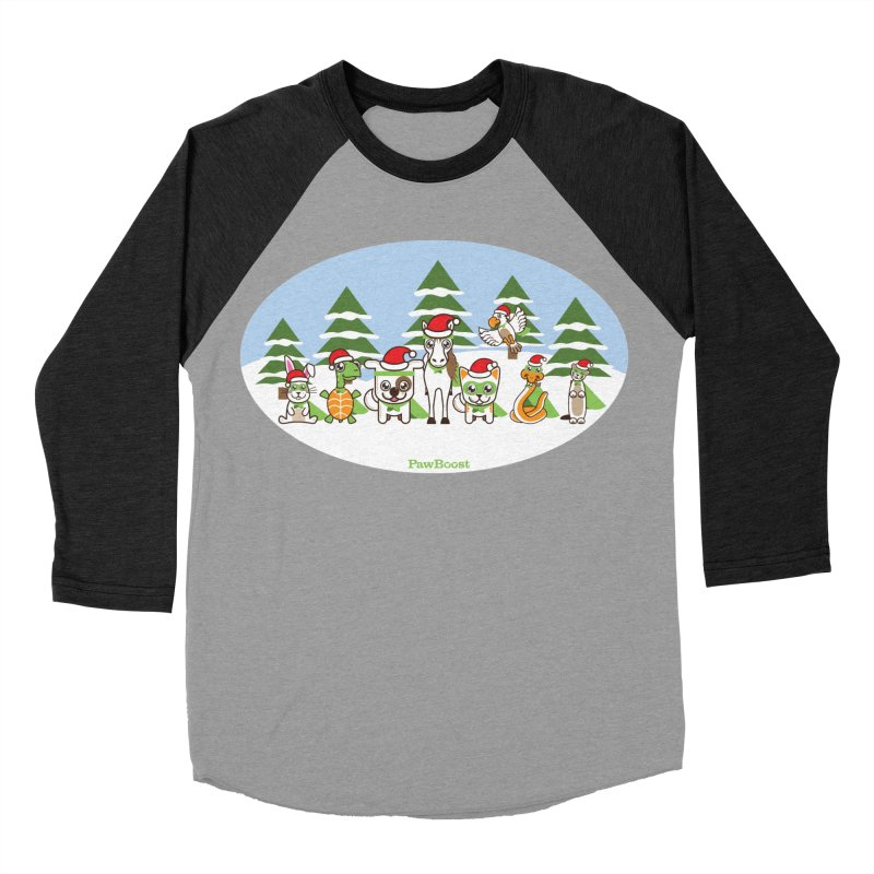 Rescue Squad (winter wonderland) Men's Baseball Triblend Longsleeve T-Shirt by PawBoost's Shop