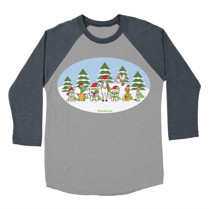 Rescue Squad (winter wonderland) Men's Baseball Triblend T-Shirt by PawBoost's Shop