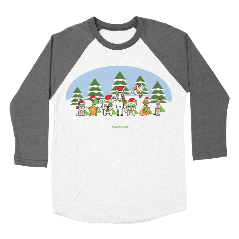 Rescue Squad (winter wonderland) Men's Baseball Triblend Longsleeve T-Shirt by PawBoost's Shop
