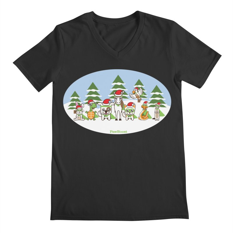 Rescue Squad (winter wonderland) Men's V-Neck by PawBoost's Shop