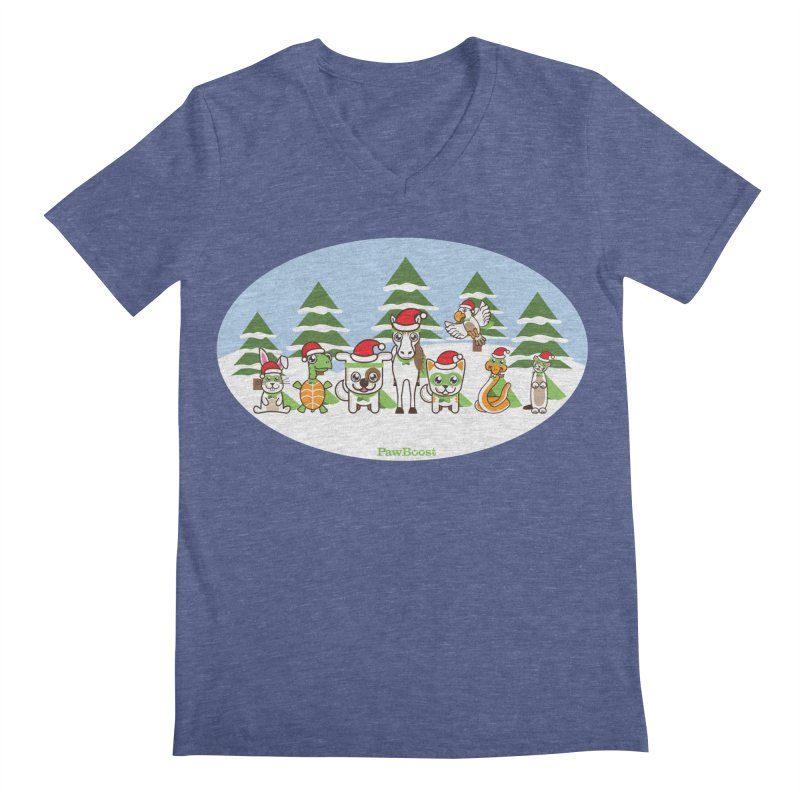 Rescue Squad (winter wonderland) Men's Regular V-Neck by PawBoost's Shop