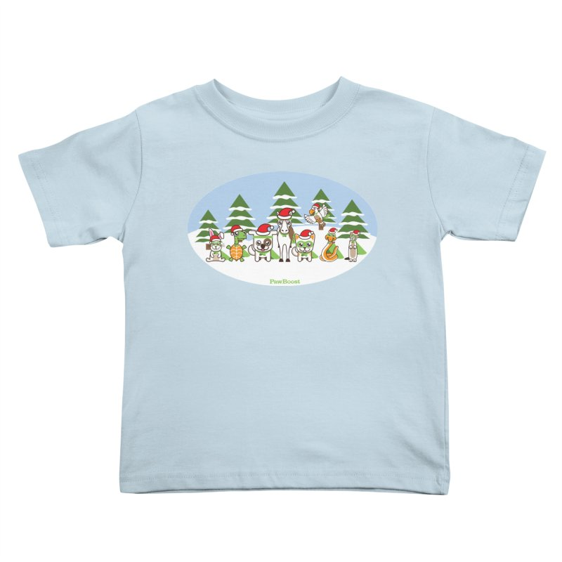 Rescue Squad (winter wonderland) Kids Toddler T-Shirt by PawBoost's Shop