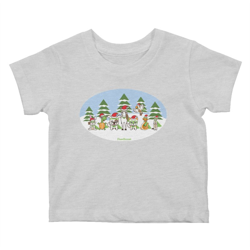 Rescue Squad (winter wonderland) Kids Baby T-Shirt by PawBoost's Shop
