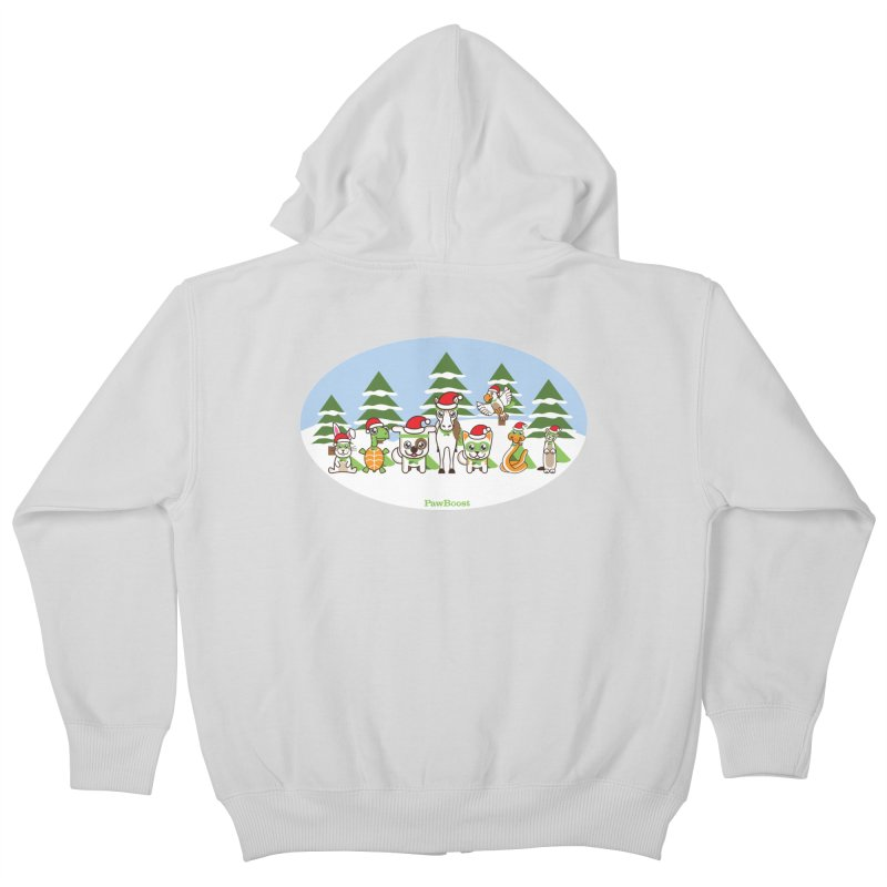 Rescue Squad (winter wonderland) Kids Zip-Up Hoody by PawBoost's Shop