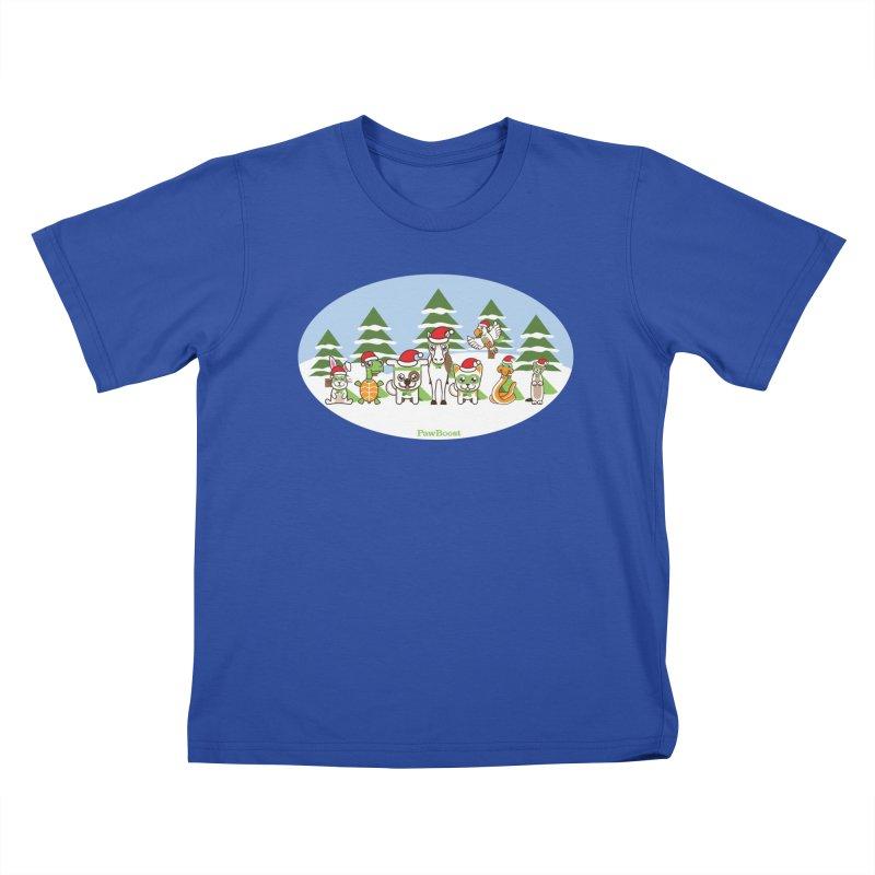 Rescue Squad (winter wonderland) Kids T-Shirt by PawBoost's Shop