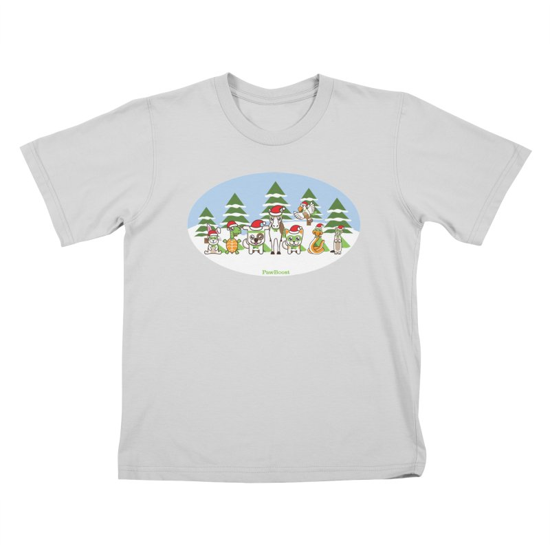Rescue Squad (winter wonderland) Kids T-Shirt by PawBoost's Shop