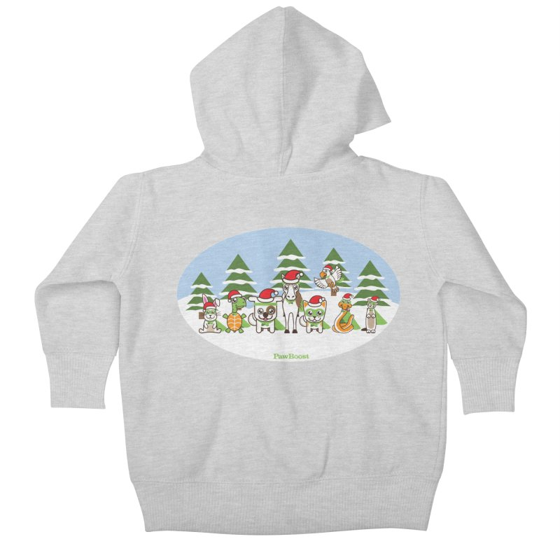 Rescue Squad (winter wonderland) Kids Baby Zip-Up Hoody by PawBoost's Shop