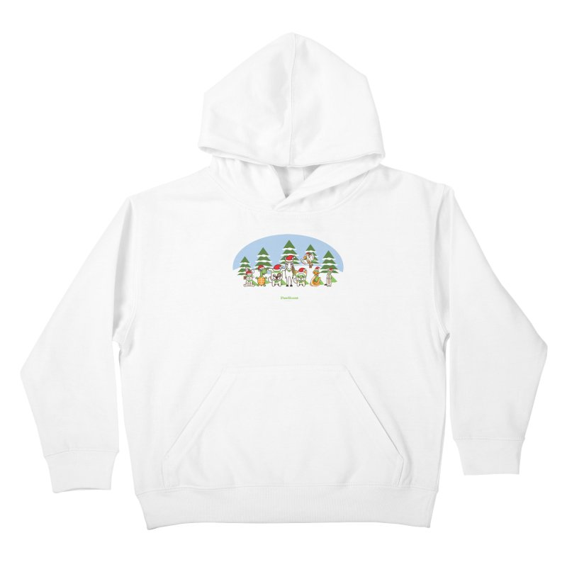 Rescue Squad (winter wonderland) Kids Pullover Hoody by PawBoost's Shop