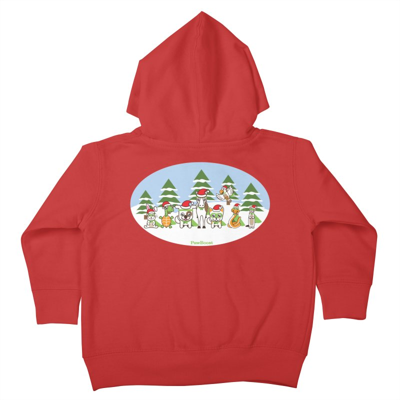 Rescue Squad (winter wonderland) Kids Toddler Zip-Up Hoody by PawBoost's Shop
