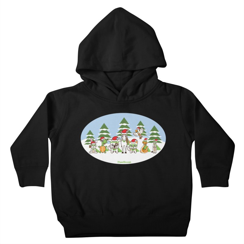 Rescue Squad (winter wonderland) Kids Toddler Pullover Hoody by PawBoost's Shop