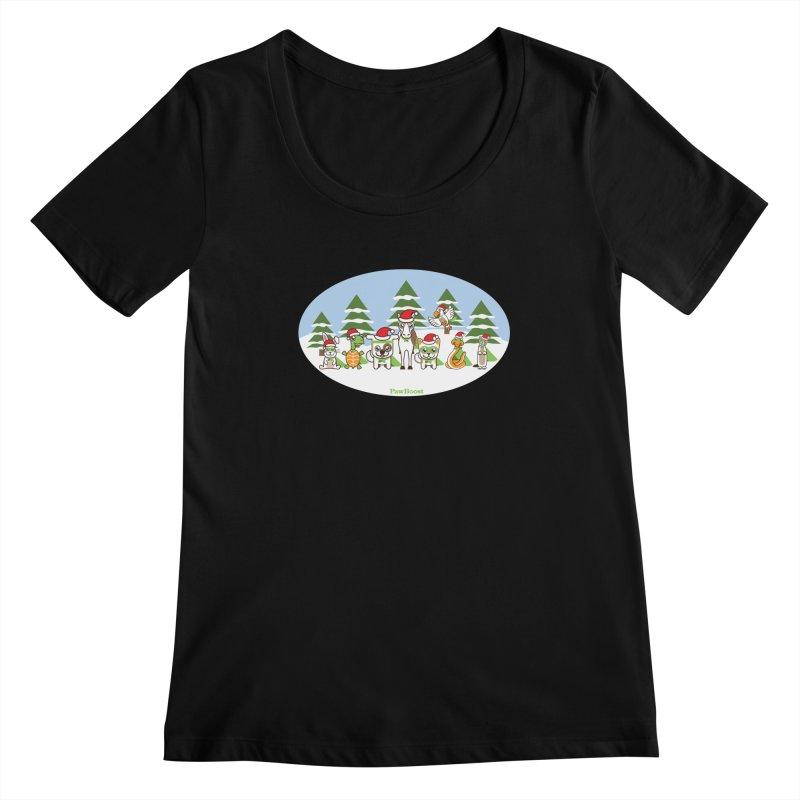 Rescue Squad (winter wonderland) Women's Scoopneck by PawBoost's Shop