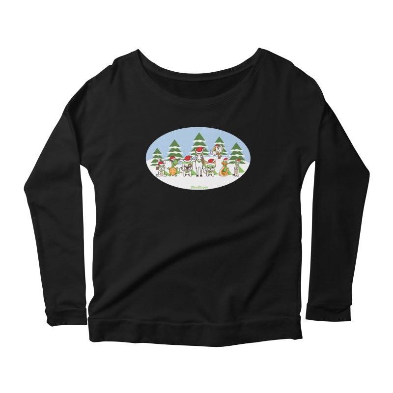 Rescue Squad (winter wonderland) Women's Longsleeve Scoopneck  by PawBoost's Shop