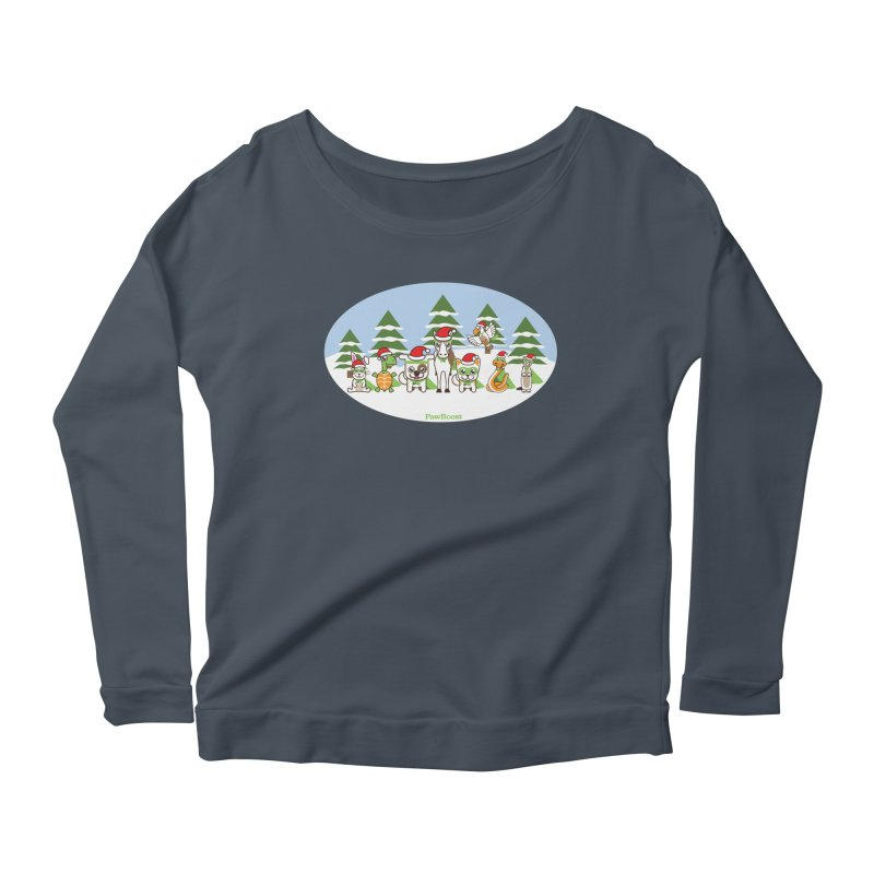 Rescue Squad (winter wonderland) Women's Scoop Neck Longsleeve T-Shirt by PawBoost's Shop