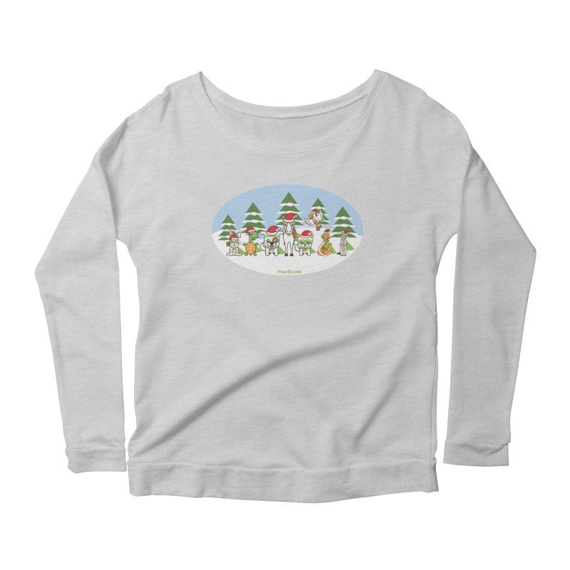 Rescue Squad (winter wonderland) Women's Scoop Neck Longsleeve T-Shirt by PawBoost's Shop