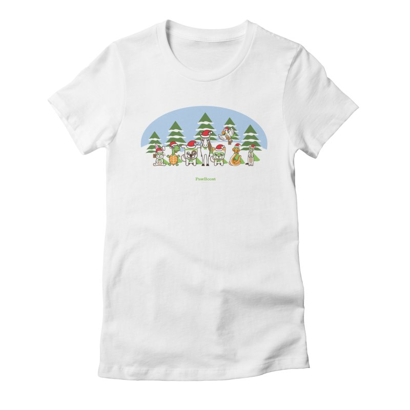 Rescue Squad (winter wonderland) Women's Fitted T-Shirt by PawBoost's Shop