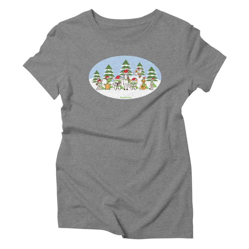 Rescue Squad (winter wonderland) Women's Triblend T-Shirt by PawBoost's Shop