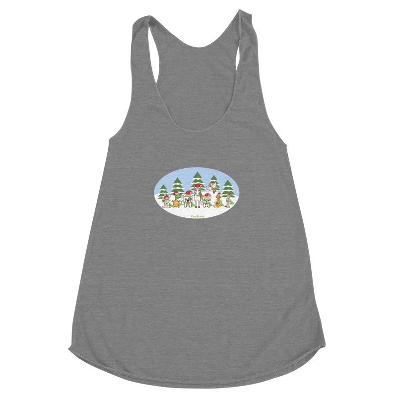 Rescue Squad (winter wonderland) Women's Racerback Triblend Tank by PawBoost's Shop