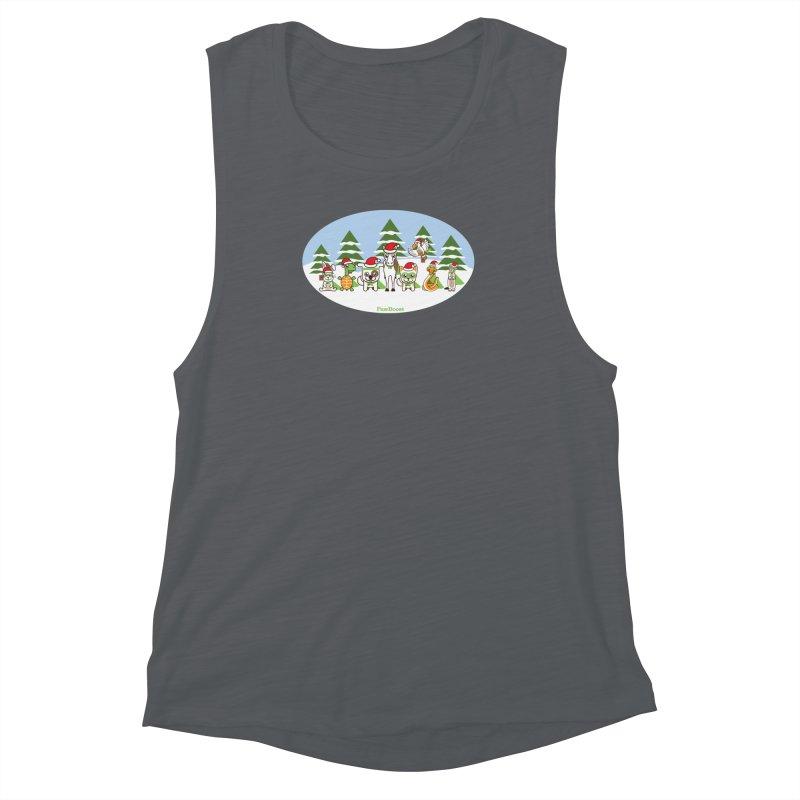 Rescue Squad (winter wonderland) Women's Muscle Tank by PawBoost's Shop